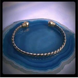 Vintage Two-Tone Cuff Bracelet